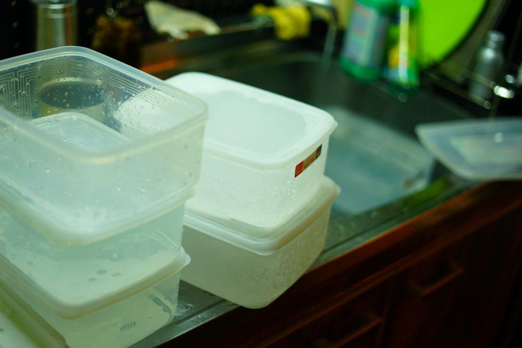 家庭用冷凍庫 大量の氷 作る 方法 タッパー 倍速凍結氷点下パック