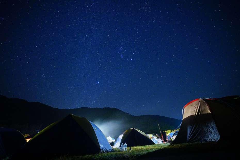 夜空 オリオン座 星空 longstay CAMP 2018 ロングステイキャンプ ギャラリー 関西 キャンプ フェス ミュージック 毛原オートキャンプ場 和歌山