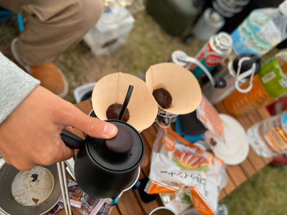 GOOUTCAMP 関西 vol.6 STIHLの森 京都 府民の森ひよしモーニング コーヒー ドリップ
