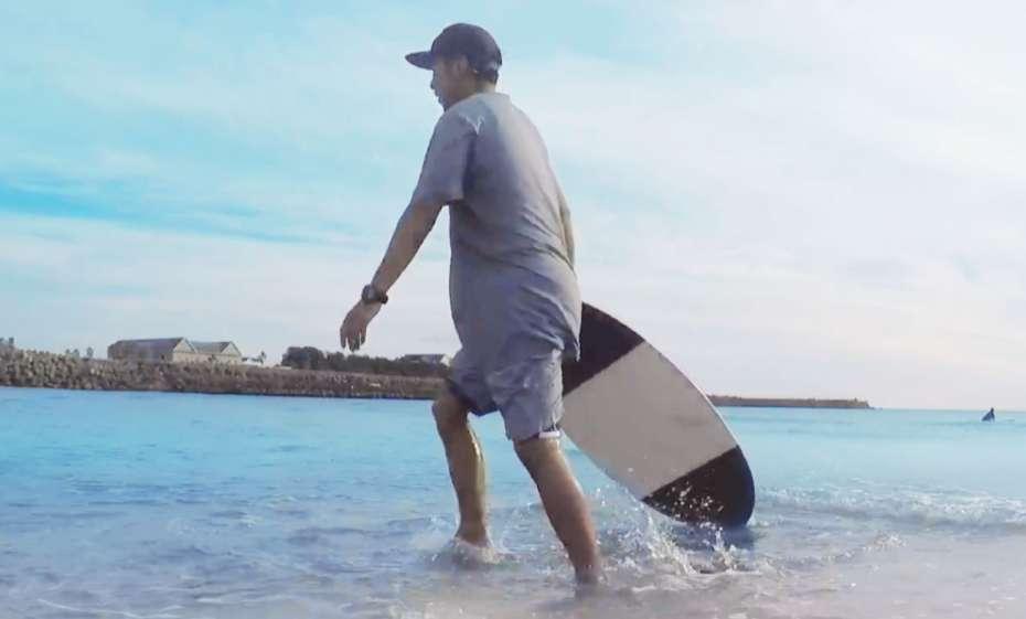 スキムボード skimboard surfin skim beach 磯ノ浦 和歌山 関西 大阪 ウェットスーツ タッパー  ロンスプ 服装