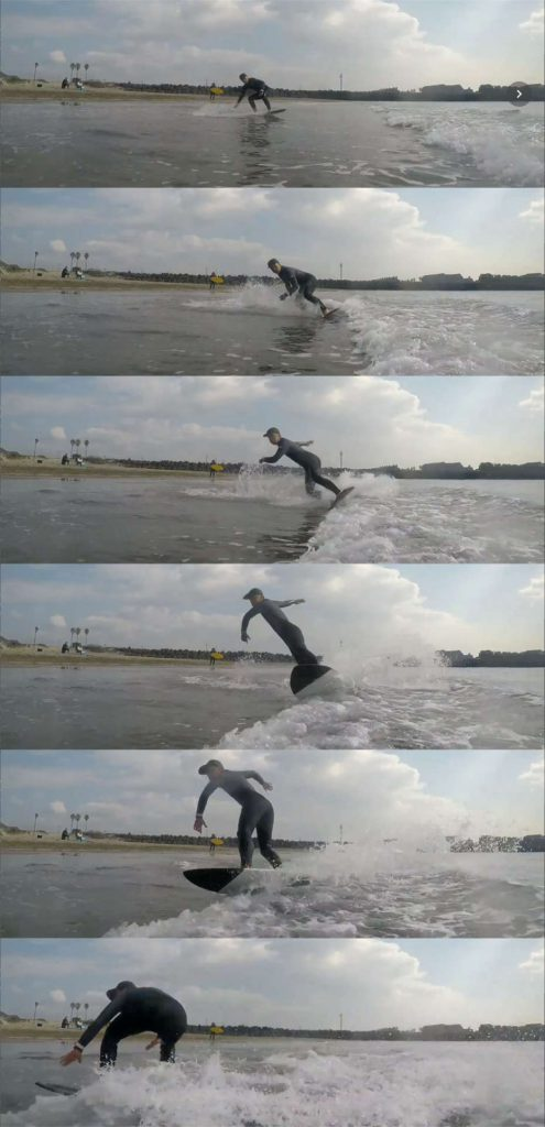 サーフィンみたい 波打ち際 浜辺でサーフィン スポーツ スキムボードとは スキムガール サーフガール スノーボード オフトレ 乗り方
